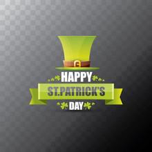 Saint Patricks Day Label Or Po...