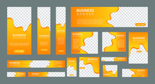 Set Of Creative Web Banners In...