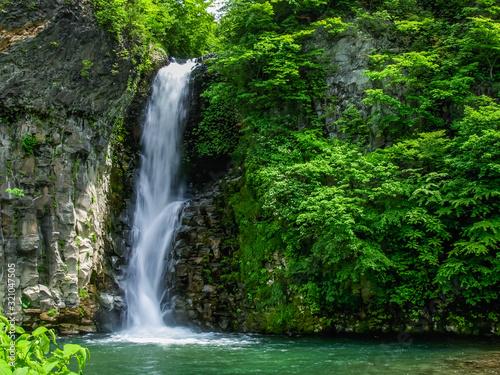 Fototapeta choshinotaki falls 銚子の滝 obraz na płótnie