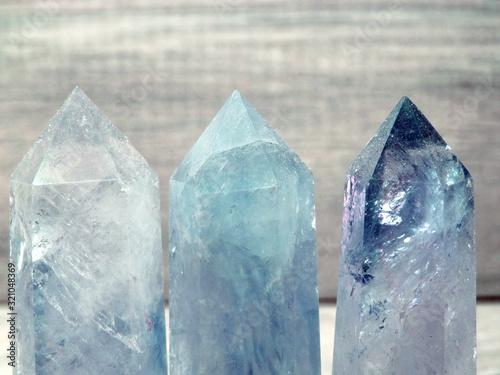 Photo aquamarine gem crystal quartz mineral geological background