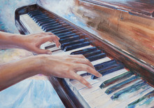 Woman Playing Piano - Elegant ...