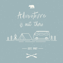 Adventure Is Out There Hand Le...