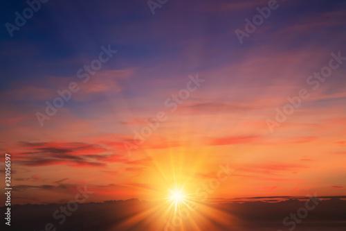 Fototapeta 琵琶湖畔からの朝日 obraz