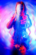 Leinwanddruck Bild - biorobot from virtual reality