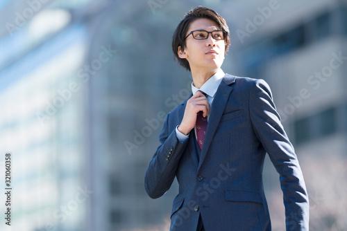 Obraz ビジネスマン 野望 - fototapety do salonu