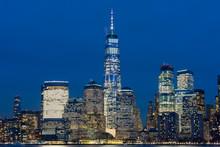 Lower Manhattan New York City Skyline At Night