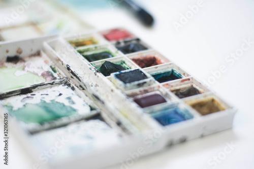 Photo watercolour palette