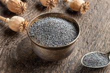 Poppy Seeds In A Bowl With Pop...
