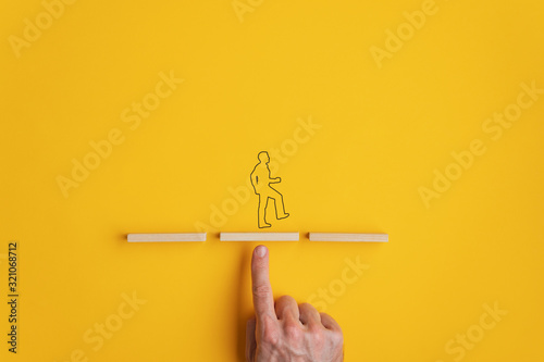 Fotomural Conceptual image of teamwork and support
