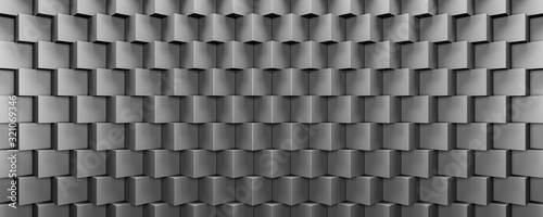Photo Grey metal cubes, modern futuristic background 3d render