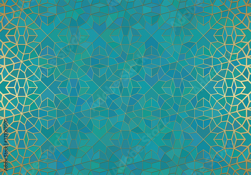 Abstract background with islamic ornament, arabic geometric texture Wallpaper Mural