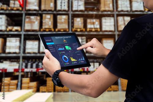 Smart warehouse management system Canvas Print