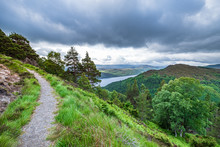 A Scenic Hiking Trail Along The Great Glen Way In Scotland
