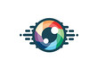 Eye icon - eye symbol. flat eye sign vector