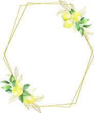 Watercolor Lemon Citrus Wreath...