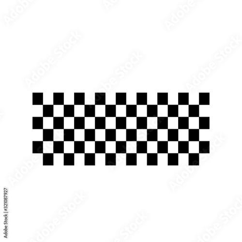 Vászonkép Race flag icon, simple design race flag logo template