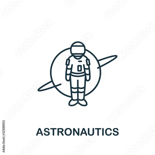 Astronautics icon from science collection Wallpaper Mural