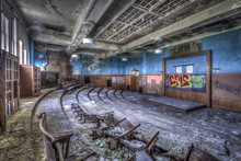 Music Room In An Abandoned High School In St. Louis