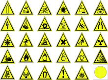 Warning Signs Set.vector Illus...