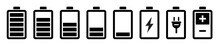 Battery Icons Set. Battery Cha...