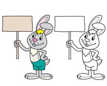 Bunny Coloring, Gray Bunny Hol...