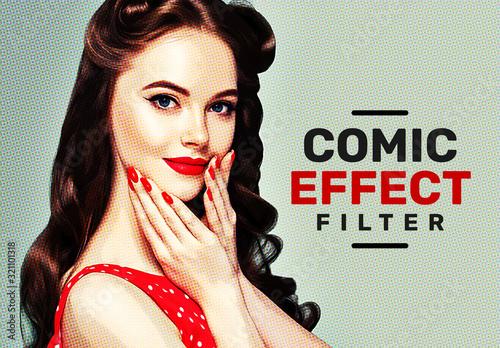 Fototapeta Vintage Retro Comic Effect Filter Mockup obraz