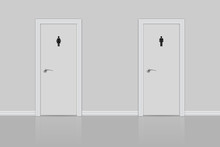Toilet Doors For Male And Female.
