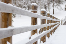 Beautiful Long Wooden Fence Co...