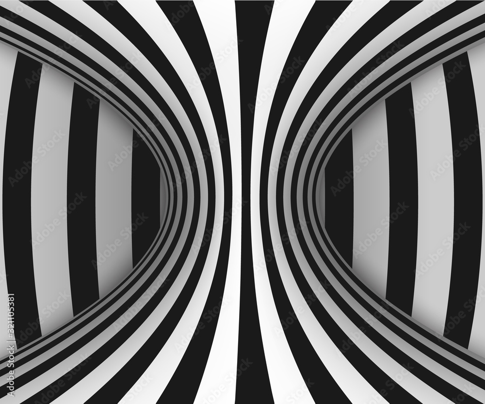 Fototapeta  lines optical illusion