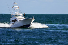 Sport Fishing Boat With Flying...