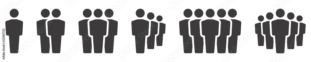Fototapeta People icon. Team icons set. Group of people. Vector illustration