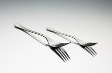 Still Life Of Two Metal Forks