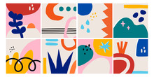 Set Of Eight Abstract Backgrou...
