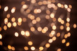 The background is a golden bokeh of the glare of garland lights. Defocus