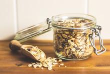 Healthy Cereal Breakfast. Mixe...