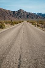 Empty Road In The Desert In De...