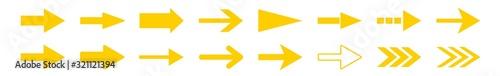 Fotografía Arrow Icon Yellow | Arrows | Infographic Illustration | Direction Symbol | Point