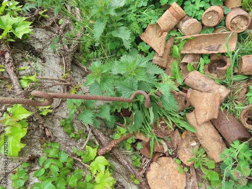 Photo Rusty artillery shells