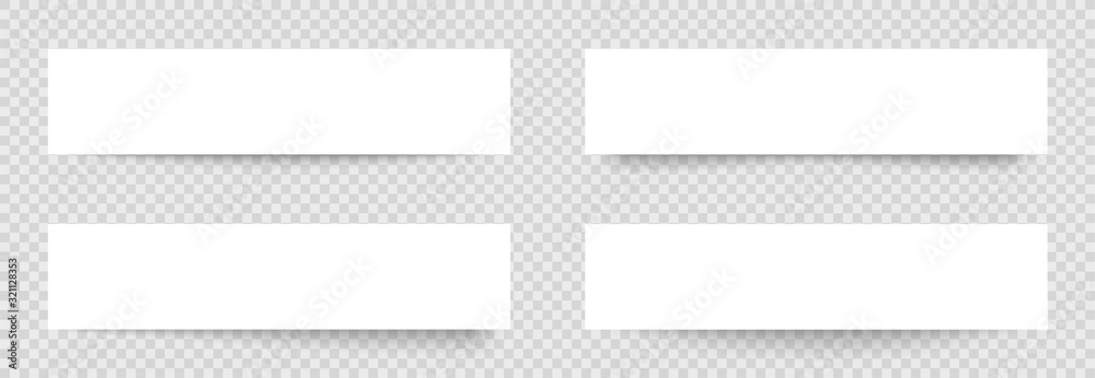 Fototapeta Transparent realistic paper shadow effects on checkered background. Element for advertising and promotional message... - stock vector.