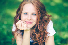 Portrait Of A Young Red Hair T...