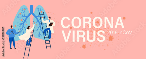 Obraz Virus diagnosis and patient treatment abstract concept vector illustration. Coronavirus test kit, coronavirus patient isolation quarantine and treatment, vaccine development abstract metaphor. - fototapety do salonu