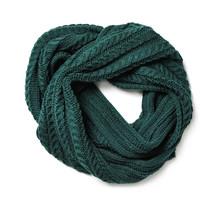 Dark Green Knitted Scarf Isola...