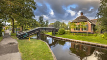 Canals In Giethoorn Village