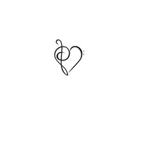 Bass And Treble Clef, Heart, Music, Classic - Vector Illustration Isolated On White Background