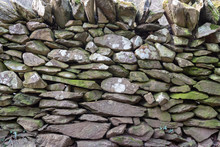 Close Up Of A Dry Stone Wall
