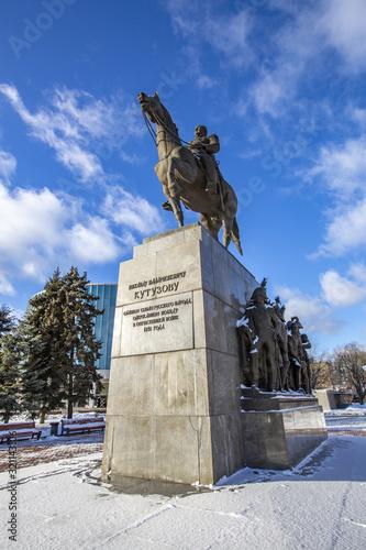 Monument to the Russian commander Mikhail Kutuzov Canvas