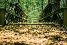Wooden Railings Of A Walkway W...