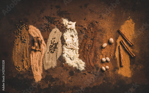 Turkish seven spice Yedi Bahar mix Wallpaper Mural