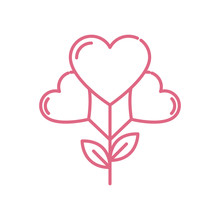 Hearts Flower Design Of Love P...