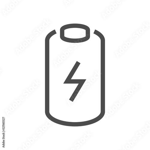 Photo electric car battery icon